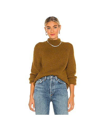 Кашемировый горчичный свитер Cupcakes And Cashmere