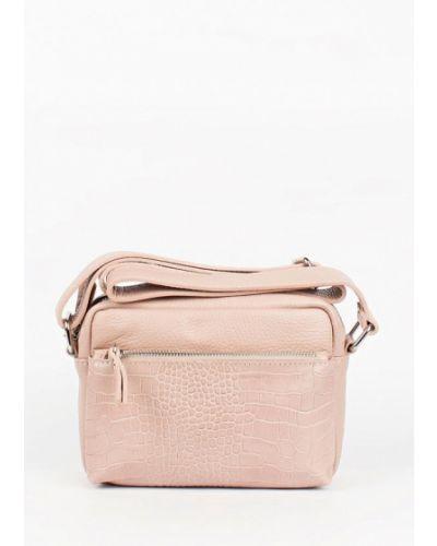 Кожаная сумка через плечо - бежевая Bella Bertucci
