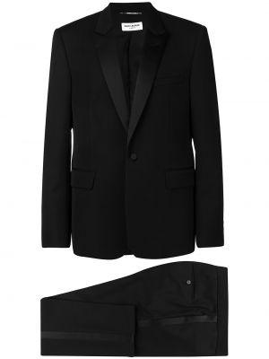 Klasyczny czarny smoking wełniany Saint Laurent