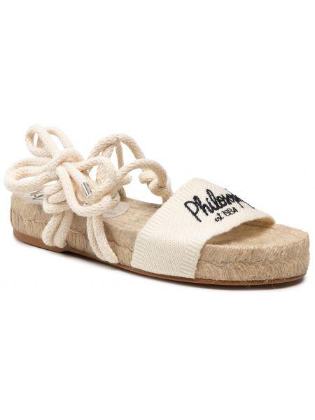Beżowe sandały espadryle Manebi
