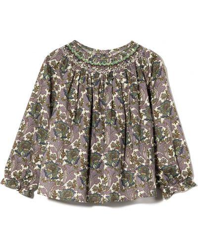 Bluzka w kwiaty - fioletowa Bonpoint