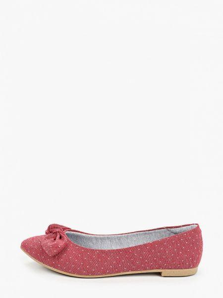 Балетки с острым носком красный Moleca