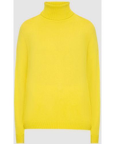 Кашемировый желтый свитер Allude