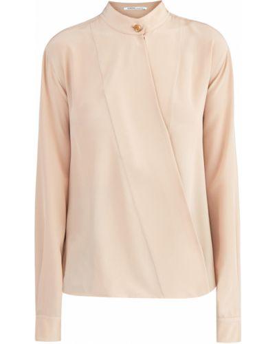 Блузка с длинным рукавом с запахом с воротником-стойкой Agnona