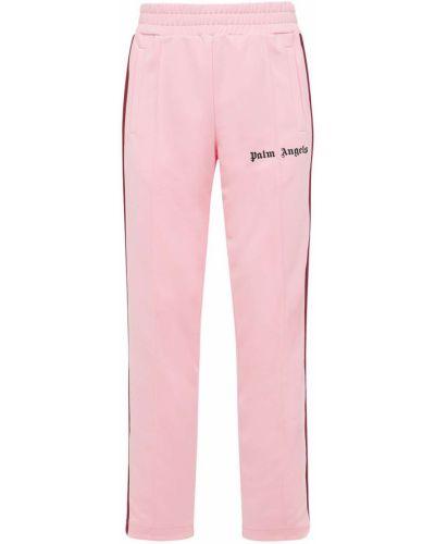 Różowe spodnie z printem Palm Angels