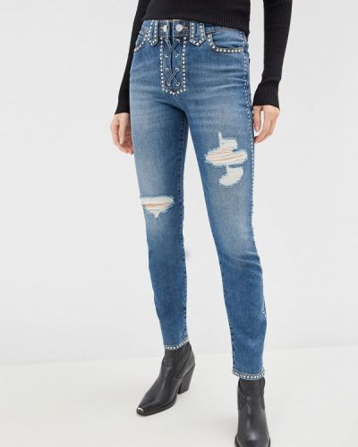 Прямые джинсы mom синие Guess Jeans