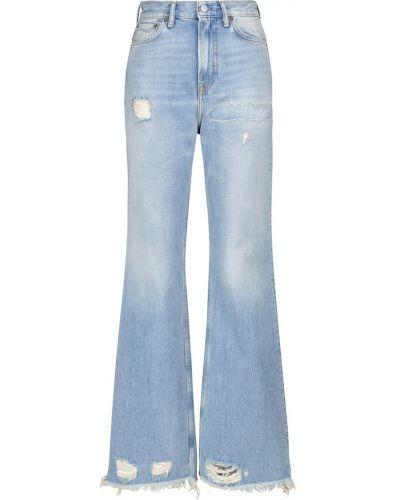 Niebieskie jeansy bootcut bawełniane Acne Studios