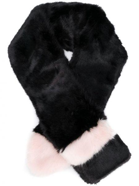 Акриловый черный шарф La Seine & Moi