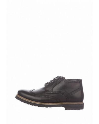 Кожаные ботинки - черные Faber