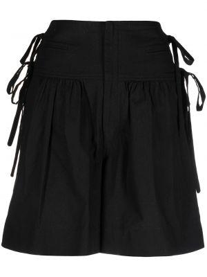 Хлопковые черные с завышенной талией шорты Isabel Marant étoile