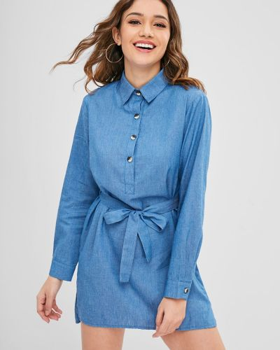 Джинсовое платье макси платье-майка Zaful