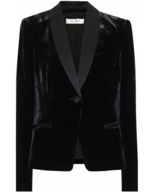 Классический пиджак бархатный сатиновый Diane Von Furstenberg