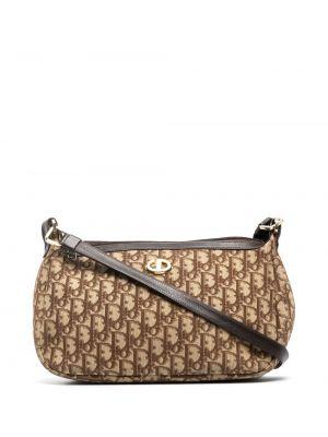Beżowa torba na ramię skórzana Christian Dior