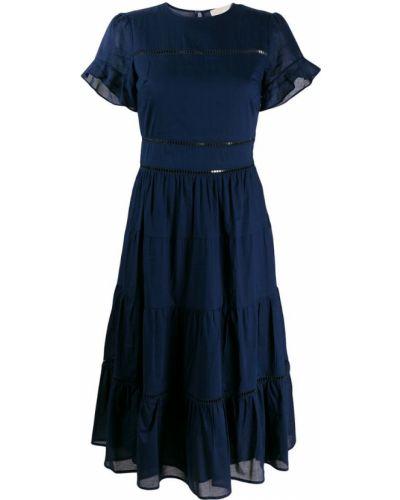 Платье миди хлопковое синее Michael Michael Kors