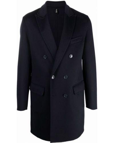 Niebieski płaszcz wełniany Palto