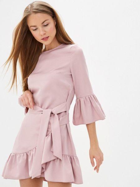 Однобортное розовое платье With&out
