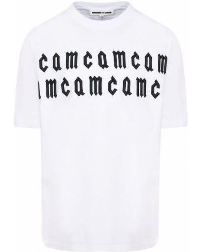 Свободная футболка с вышивкой с логотипом Mcq