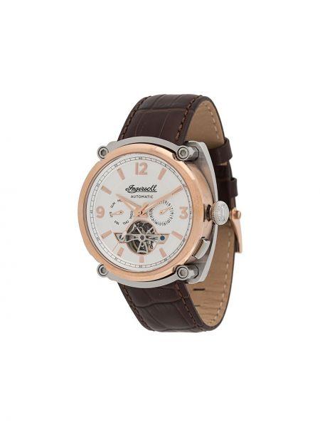 Brązowy zegarek mechaniczny skórzany Ingersoll Watches