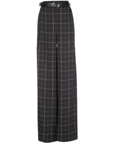 Черные расклешенные брюки с поясом Sally Lapointe