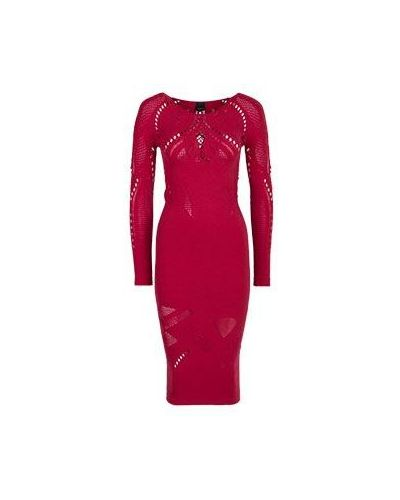 Красное коктейльное платье Pinko