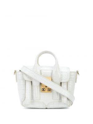 Złota torebka na łańcuszku - biała 3.1 Phillip Lim