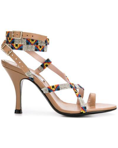 Босоножки на высоком каблуке на каблуке с пряжкой Leandra Medine