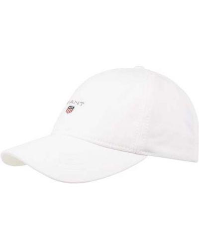 Biały kaszkiet bawełniany Gant