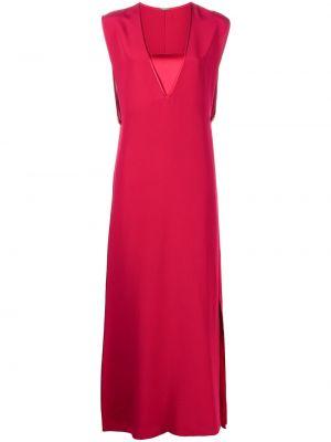 Шелковое платье макси - красное Adam Lippes
