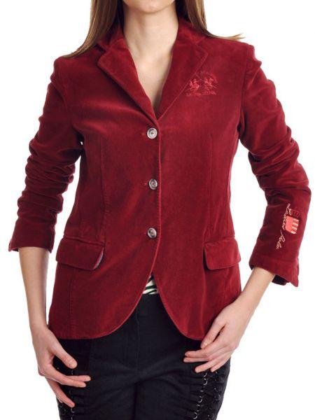 Хлопковый красный пиджак с подкладкой La Martina