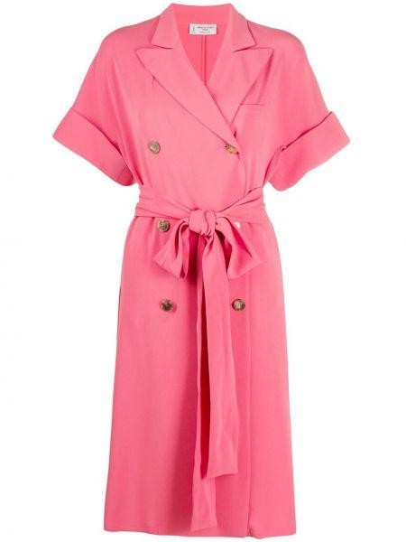 Платье мини розовое на пуговицах Alberto Biani