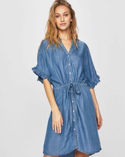 Джинсовое платье однотонное прямое Only