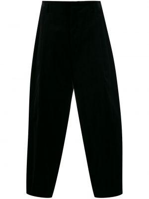 Czarne spodnie bawełniane z paskiem Comme Des Garcons Homme Plus
