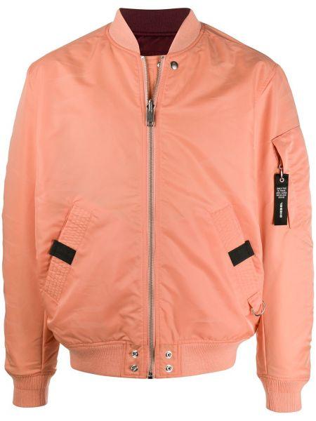 Оранжевая с рукавами куртка двусторонняя Diesel