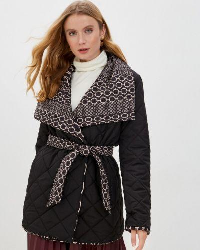 Черная утепленная куртка Rinascimento