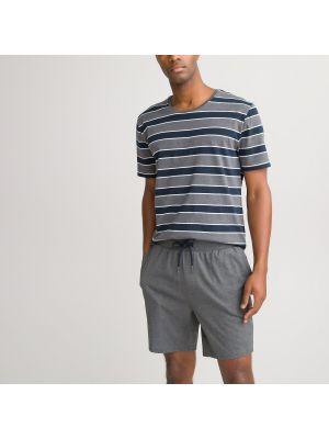 Хлопковая пижама с шортами с карманами в полоску Laredoute