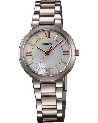 Кварцевые часы водонепроницаемые с круглым циферблатом Orient