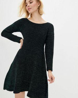 Клубное вязаное черное платье Nataclub