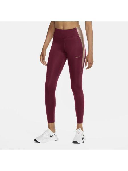 Trening czerwony legginsy elastyczny Nike