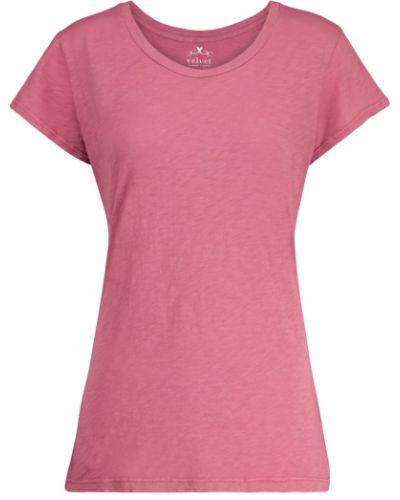 Ватная розовая хлопковая рубашка Velvet