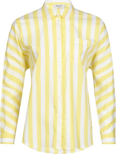 Хлопковая желтая рубашка на пуговицах Maerz