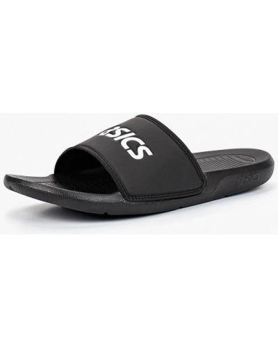 Черные пляжные шлепанцы Asics