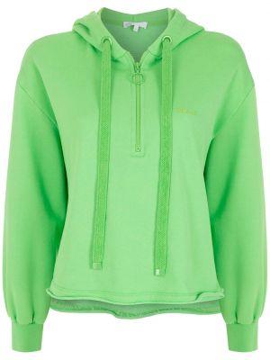 Зеленое худи длинное НК