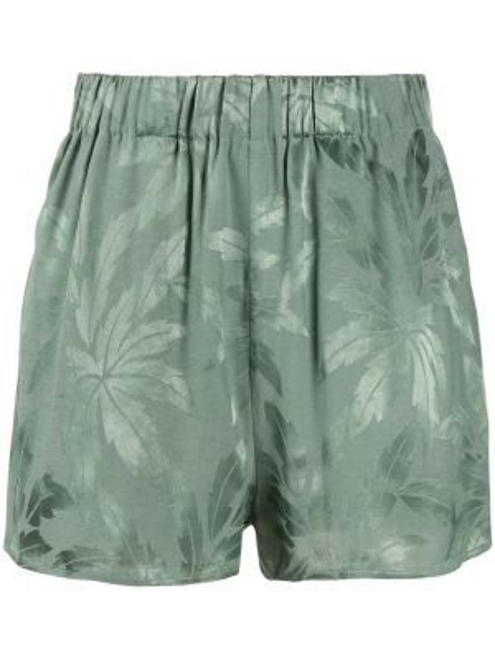 Зеленые шорты с карманами из вискозы Love Stories