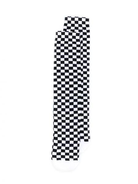 Вязаные белые носки в рубчик Off-white