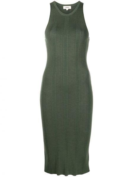Платье в рубчик - зеленое L'agence