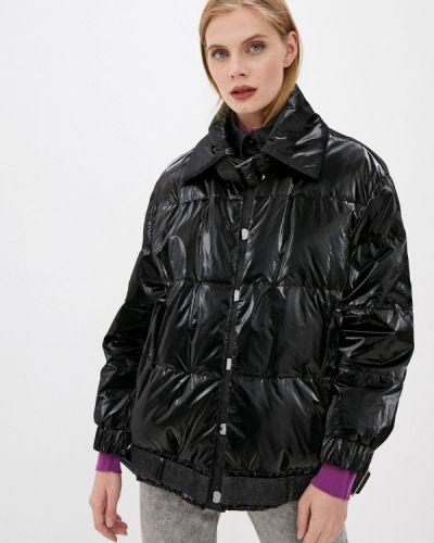 Теплая черная утепленная куртка Emporio Armani