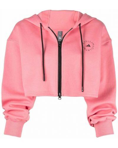 Różowy sweter Adidas By Stella Mccartney
