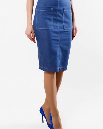 Джинсовая юбка - синяя Sfn