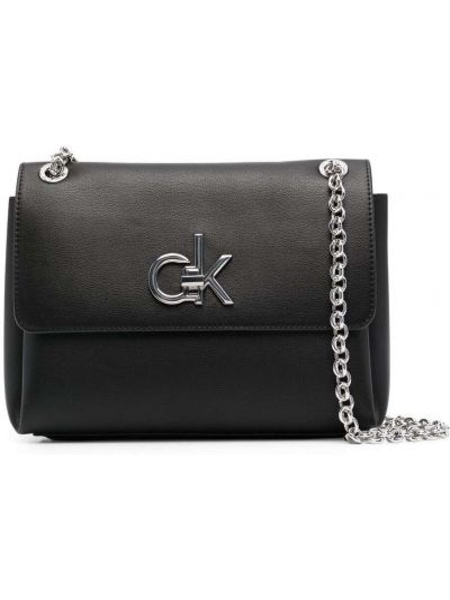 Czarny łańcuch ze srebra srebrny Calvin Klein