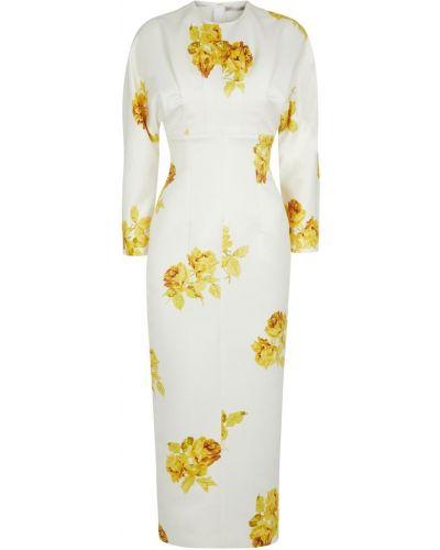 Белое платье с принтом Emilia Wickstead
